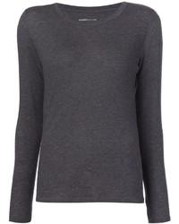 Camiseta de manga larga en gris oscuro de Majestic Filatures