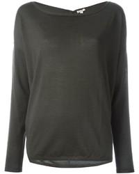 Camiseta de manga larga en gris oscuro de P.A.R.O.S.H.