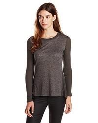 Camiseta de manga larga en gris oscuro de Sam Edelman