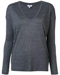 Camiseta de manga larga en gris oscuro de Vince