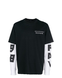 Camiseta de manga larga en negro y blanco de Diesel