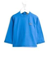 Camiseta de manga larga en turquesa de Armani Junior