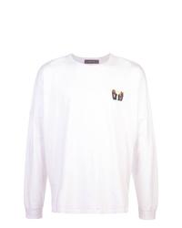 Camiseta de manga larga estampada blanca de Geo