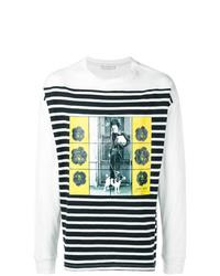 Camiseta de manga larga estampada blanca de JW Anderson