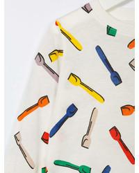 Camiseta de Manga Larga Estampada Blanca de Stella McCartney