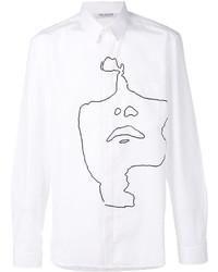Camiseta de manga larga estampada blanca de Neil Barrett