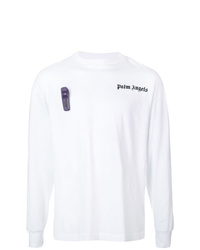 Camiseta de manga larga estampada blanca de Palm Angels