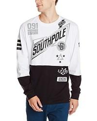 Camiseta de manga larga estampada blanca de Southpole