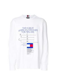 Camiseta de Manga Larga Estampada Blanca de Tommy Hilfiger