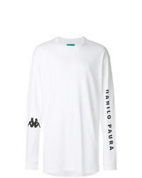 Camiseta de manga larga estampada en blanco y negro