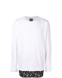 Camiseta de manga larga estampada en blanco y negro de Nike