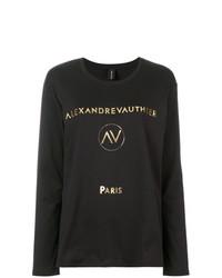 Camiseta de manga larga estampada negra de Alexandre Vauthier