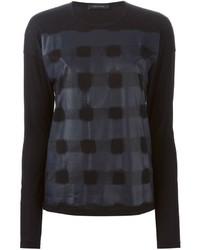Camiseta de manga larga estampada negra de Cédric Charlier