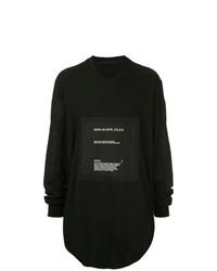 Camiseta de manga larga estampada negra de Julius