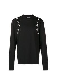 Camiseta de manga larga estampada negra de Neil Barrett