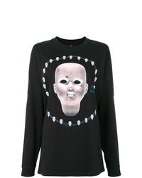Camiseta de Manga Larga Estampada Negra de R13