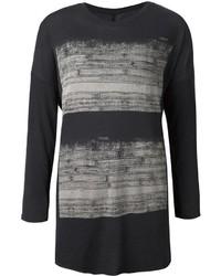 Camiseta de manga larga estampada negra de Raquel Allegra