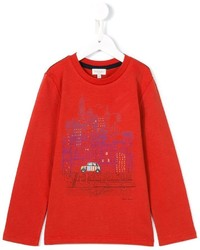Camiseta de manga larga estampada roja de Paul Smith