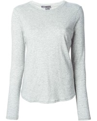 Camiseta de manga larga gris de Vince