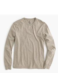 Camiseta de manga larga marrón claro