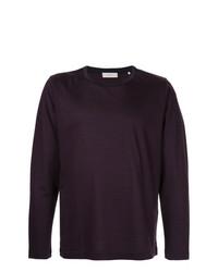 Camiseta de manga larga morado oscuro de Cerruti 1881