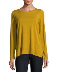 Camiseta de manga larga mostaza