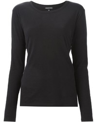 Camiseta de manga larga negra de Ann Demeulemeester