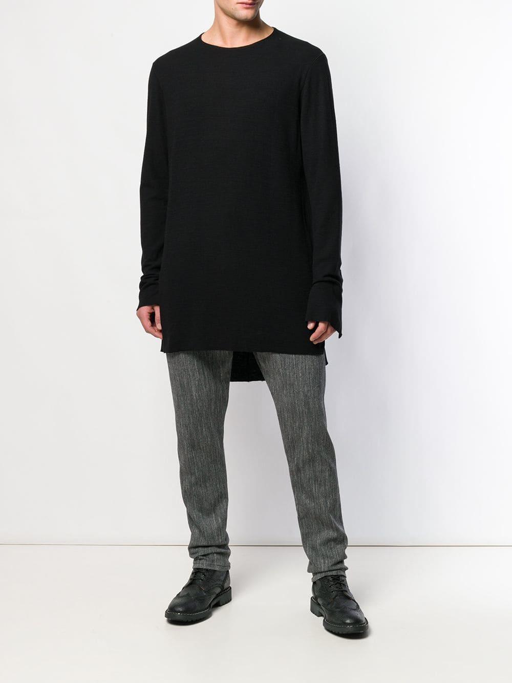 Camiseta de manga larga negra de Cedric Jacquemyn