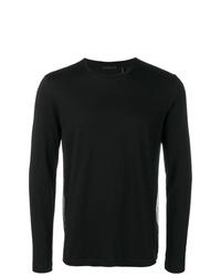 Camiseta de manga larga negra de Helmut Lang