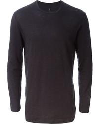 Camiseta de manga larga negra de Neil Barrett