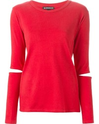 Camiseta de manga larga roja de Ann Demeulemeester