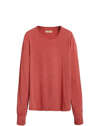 Camiseta de manga larga roja de Burberry