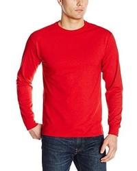 Camiseta de manga larga roja de Jerzees