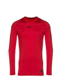 Camiseta de manga larga roja de Nike