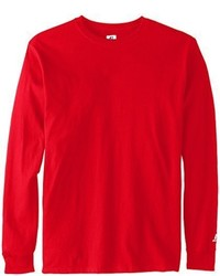 Camiseta de manga larga roja de Russell Athletic