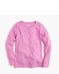 Camiseta de manga larga rosada