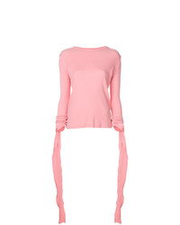 Camiseta de manga larga rosada de JW Anderson