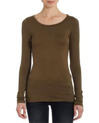 Camiseta de manga larga verde oliva original 1285845