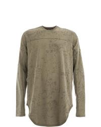 Camiseta de manga larga verde oliva de Julius