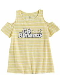 Camiseta de rayas horizontales amarilla