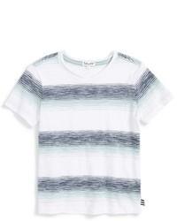 Camiseta de rayas horizontales blanca