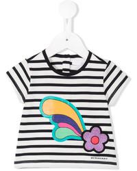 Camiseta de Rayas Horizontales Blanca de Burberry
