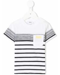 Camiseta de rayas horizontales en blanco y negro