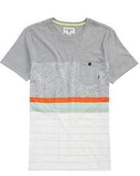 Camiseta de rayas horizontales gris