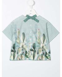 Camiseta de rayas horizontales verde de Il Gufo