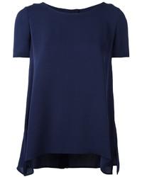 Camiseta de seda azul marino de Diane von Furstenberg