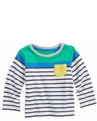 Camiseta en blanco y azul marino