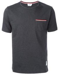 Camiseta en gris oscuro de Thom Browne