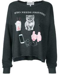 Camiseta en gris oscuro de Wildfox Couture