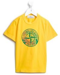 Camiseta estampada amarilla